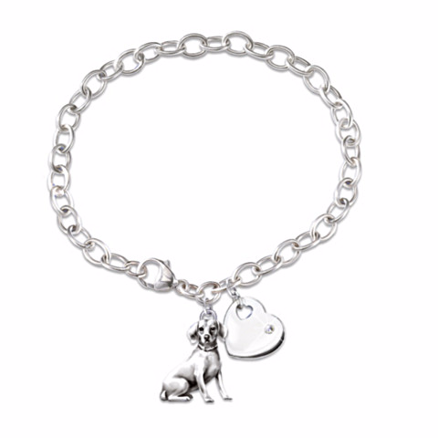 Beagle Loyal Companion Charm Bracelet