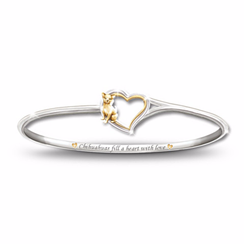 Chihuahua Faithful Friend Engraved Bracelet