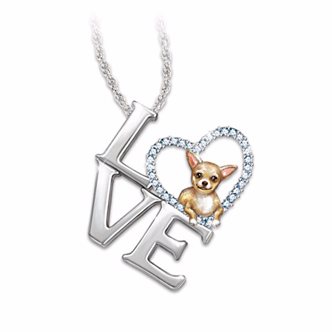 Chihuahua Loving Companion Pendant Necklace