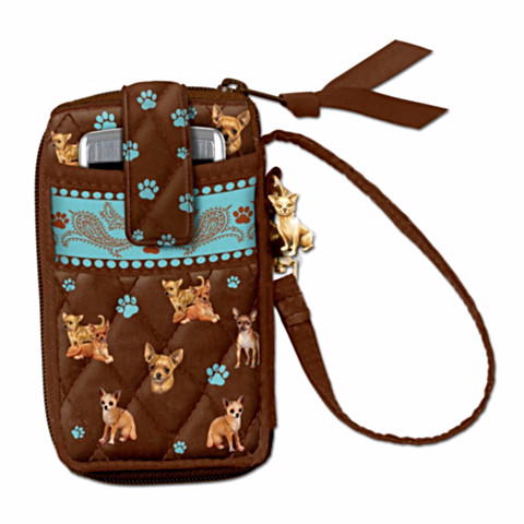 Chihuahua Loving Companion Cell Phone Holder Wristlet