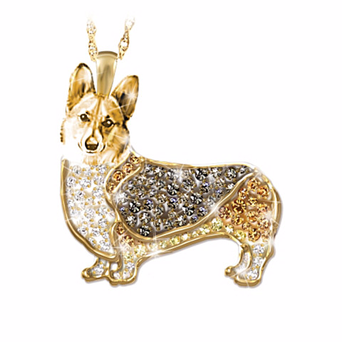 Welsh Corgi Best In Show Crystal Pendant Necklace