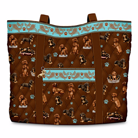 Dachshund Faithful Friend Quilted Tote Bag