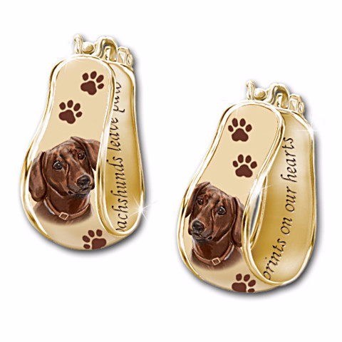 Dachshund Cuff Earrings