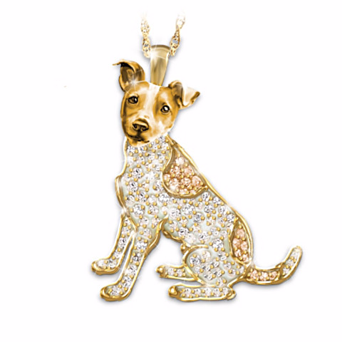 Jack Russell Terrier Best In Show Crystal Pendant Necklace