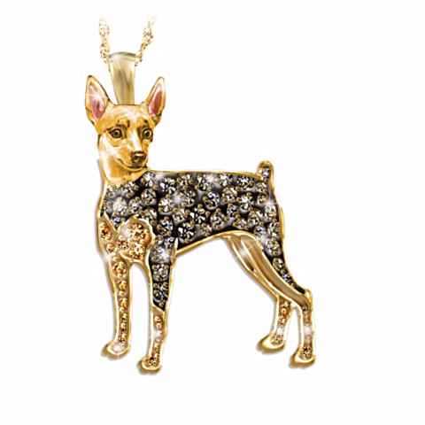 Miniature Pinscher Best In Show Crystal Pendant Necklace