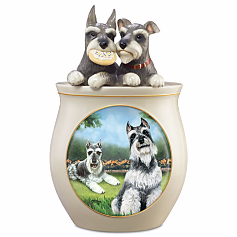 Schnauzer Cookie Jar by Linda Picken