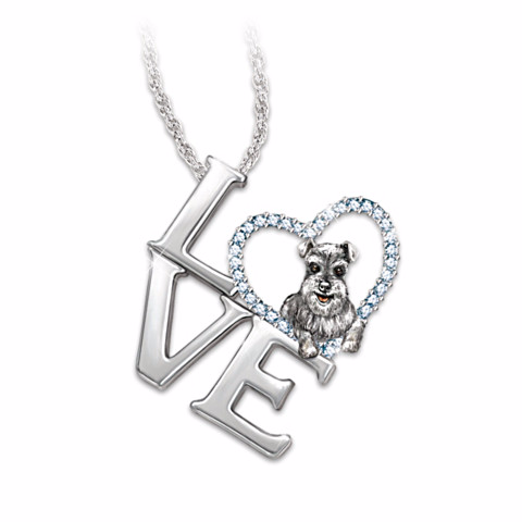 Schnauzer Loving Companion Pendant Necklace