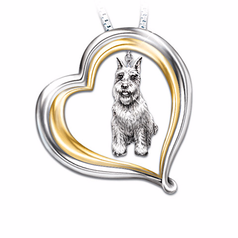 Schnauzer Loyal Companion Pendant Necklace