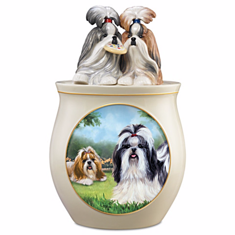 Shih Tzu Cookie Jar by Linda Picken