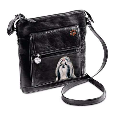 Shih Tzu I Love My Crossbody Bag