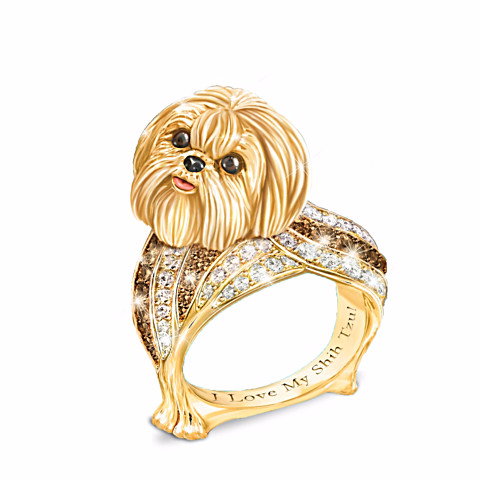 Shih Tzu Best In Show Sculpted Women's Ring