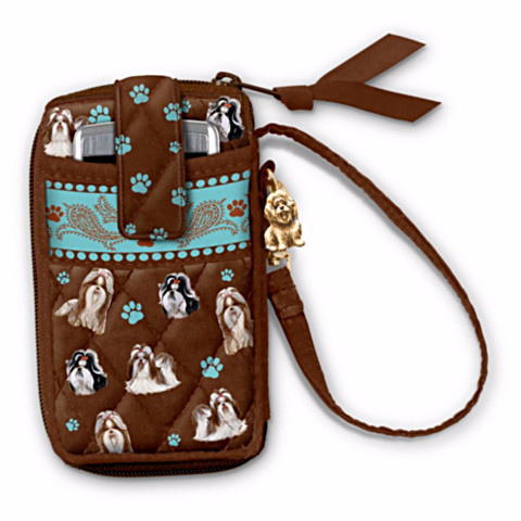 Shih Tzu Loving Companion Cell Phone Holder Wristlet