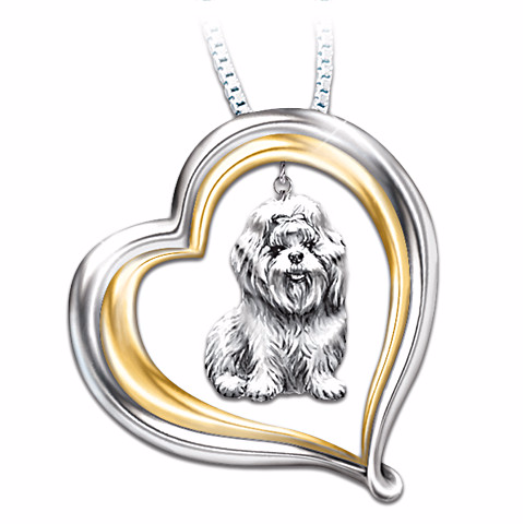 Shih Tzu Loyal Companion Pendant Necklace