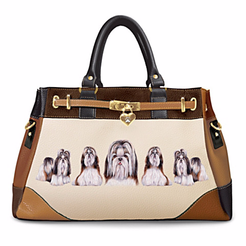 Shih Tzu Fashion's Best Friend Satchel Handbag