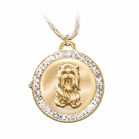 Yorkie Reversible Watch Pendant Necklace